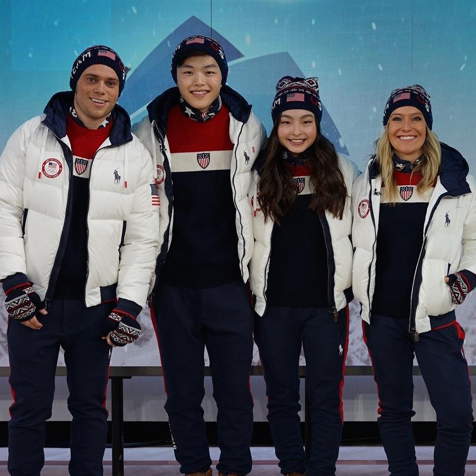 Unveiling of Ralph Lauren Team USA Winter Olympics closing ceremony uniforms