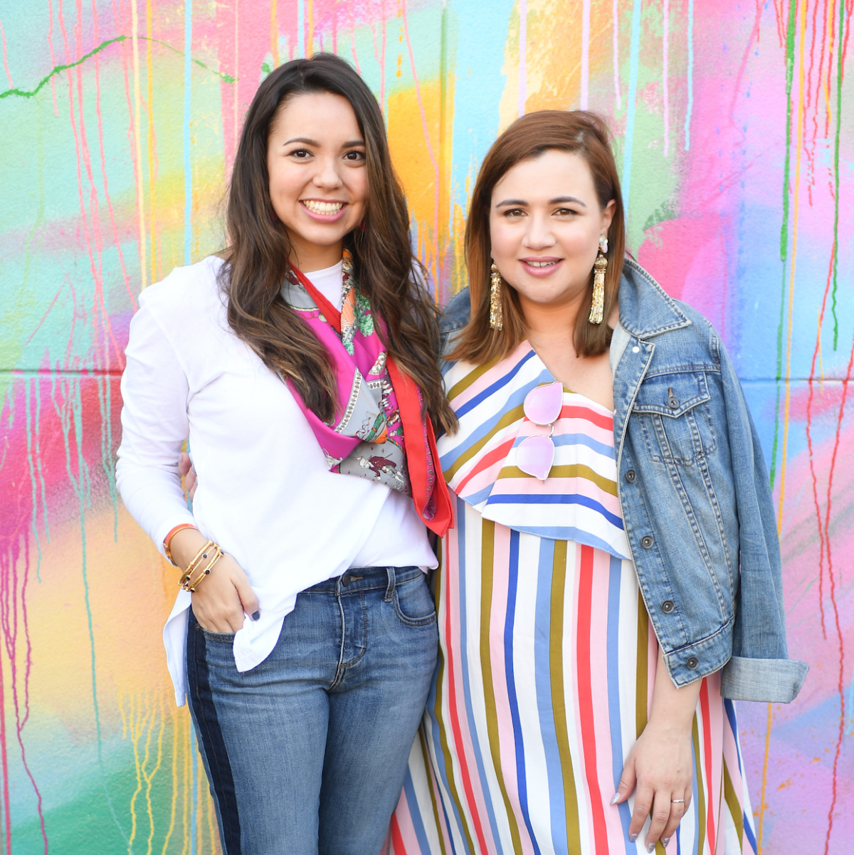 Alexandria Haines, Nicole Kestenbaum at More Color Please launch