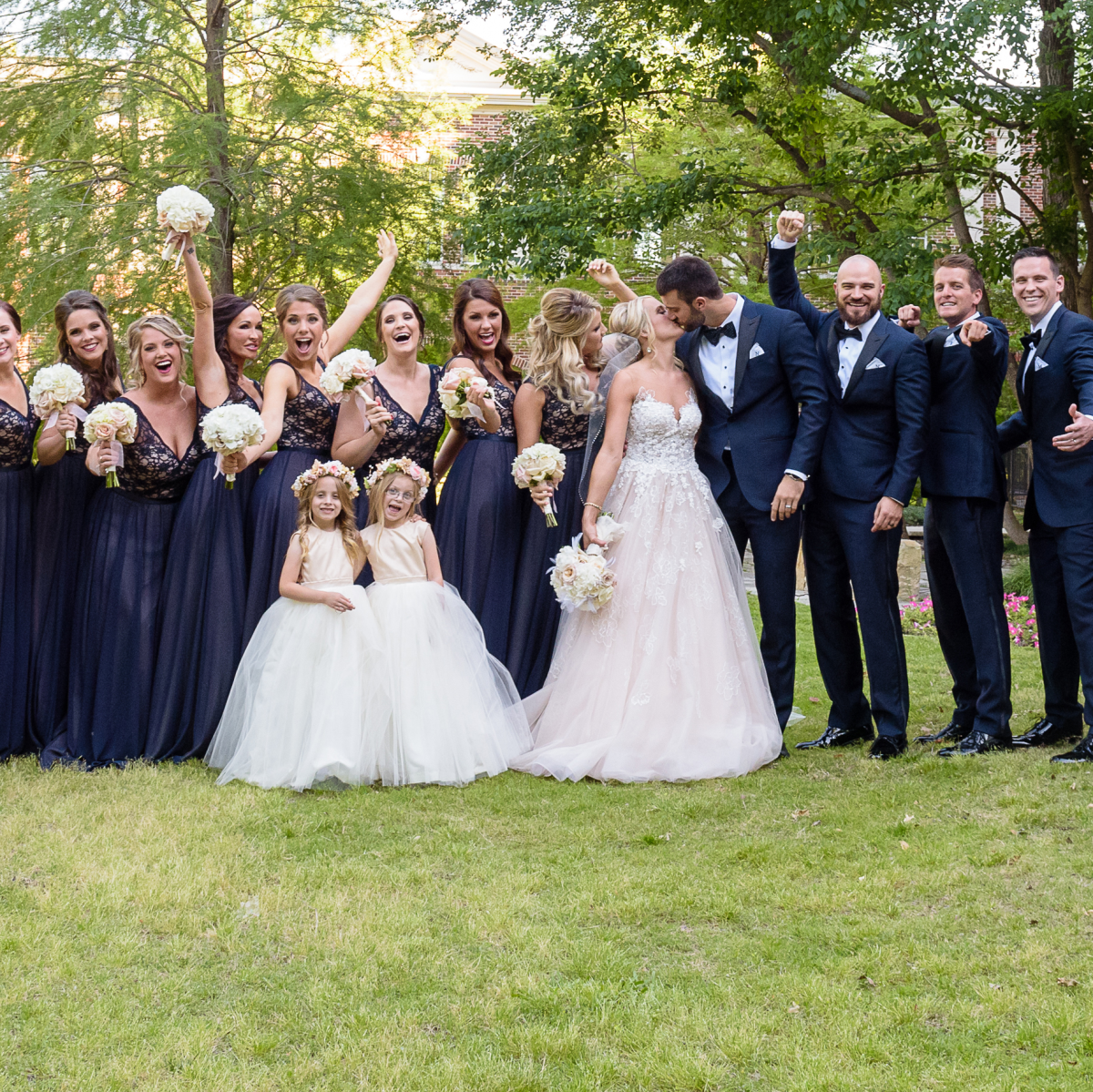 Neely Dinner, bridal party