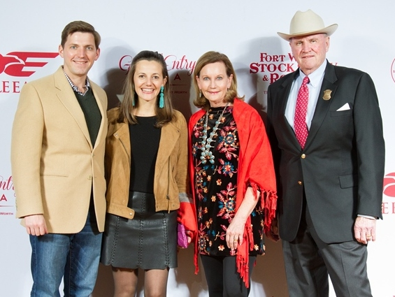 Fort Worth, JLH Grand Entry Gala, January 2018, Will Leavitt, Toni Leavitt, Martha Williams, J.R. Williams