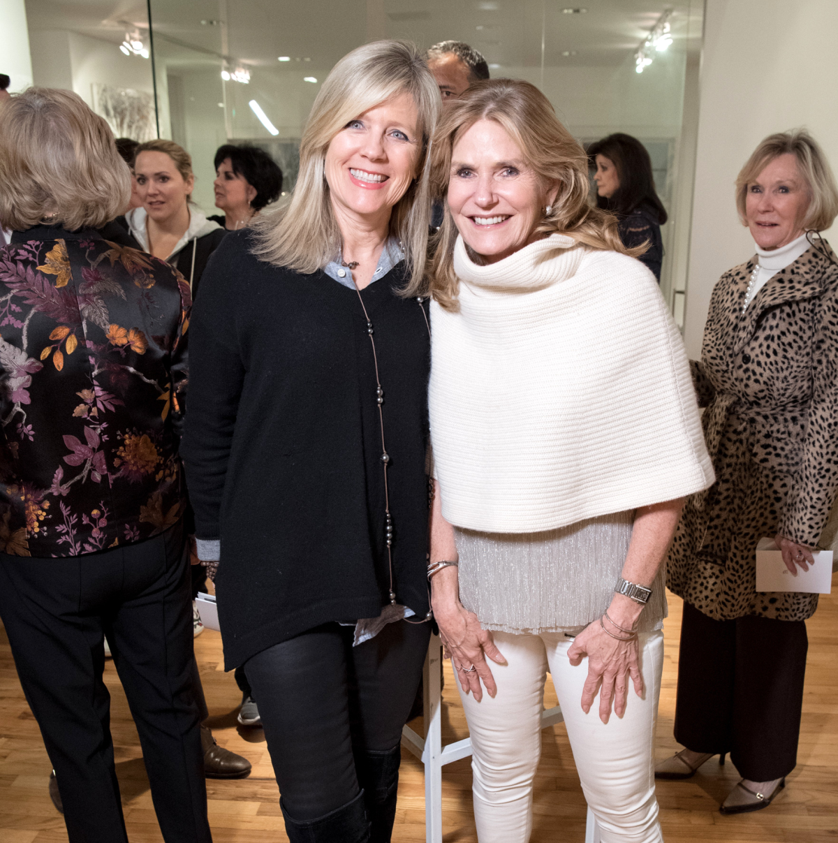 Dallas, LR Art House opening, January 2018, Kristi Hall, Laura Roosevelt