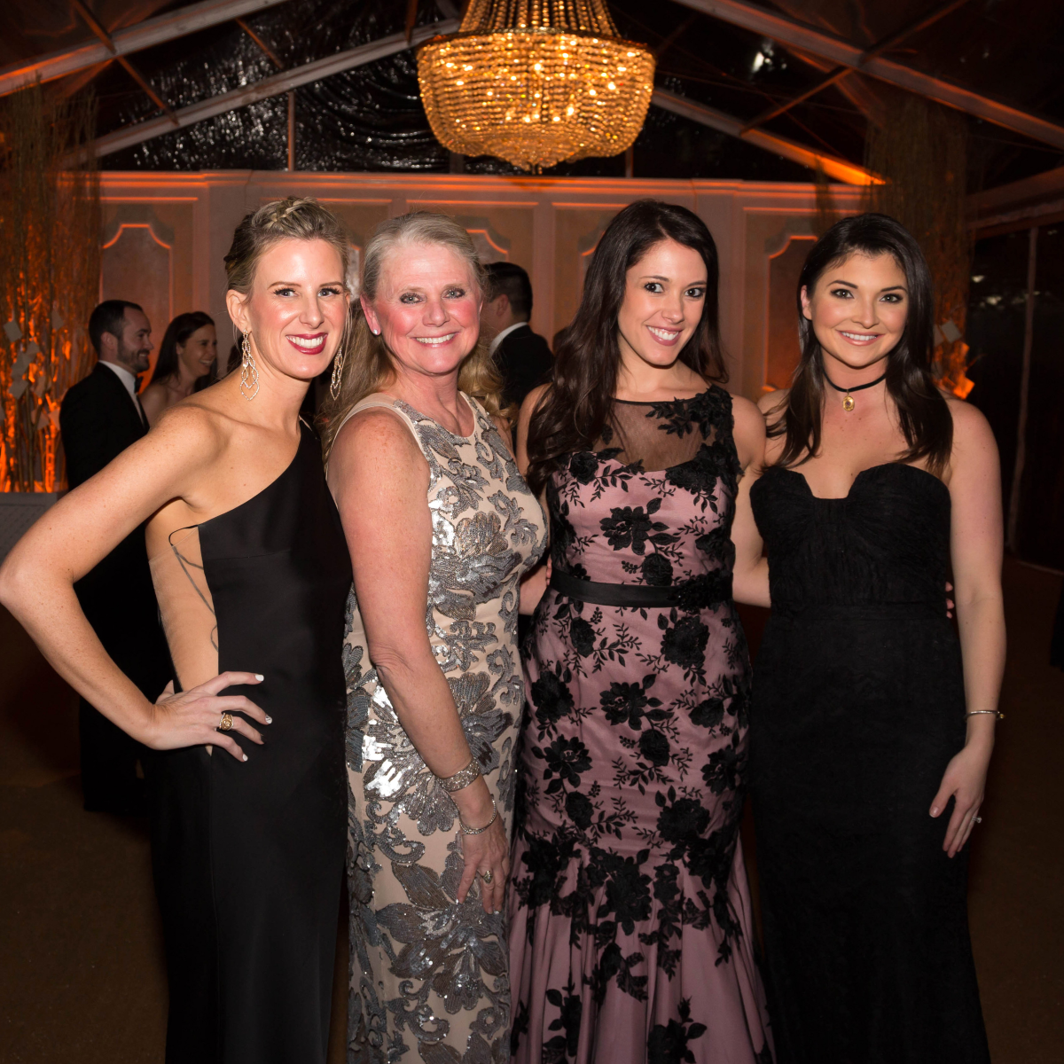 Houston, JLH Charity Ball, February 2018, Jamie Hons, Joni Fichter, Hannah Gelbs, Peyton Wallace