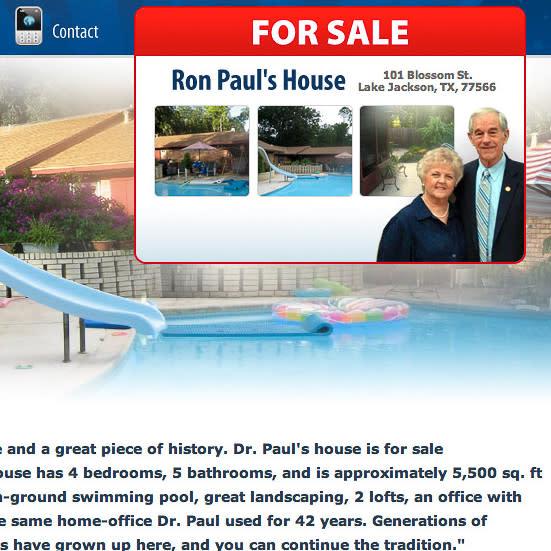 News_Ron Paul_house for sale