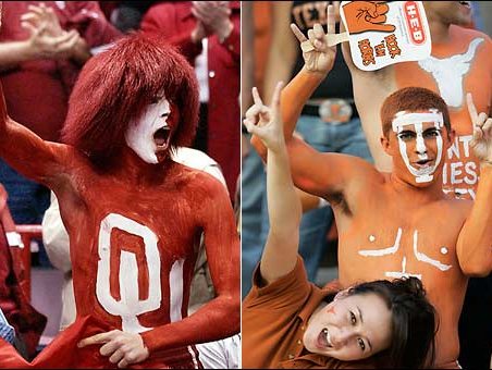 Texas and OU fans