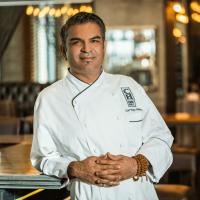 Chef Vijay Sadhu of Cook Hall restaurant in Dallas