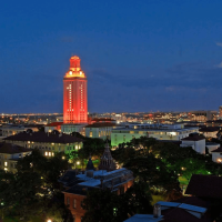 University of Texas at Austin tower aerial