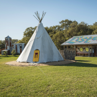 Rancho Pillow Round Top teepee