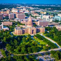 Austin skyline with Capitol building