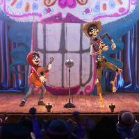 Anthony Gonzalez and Gael Garcia Bernal in Coco