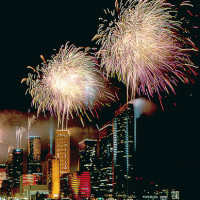 News_Houston_skyline_fireworks_Fourth of July