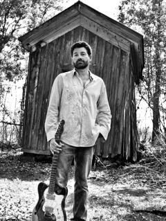 musician Tab Benoit black and white