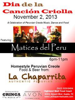 La Chaparrita day of the creole song celebration party