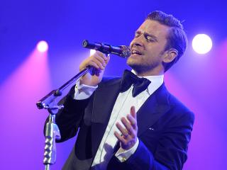 Justin Timberlake singing May 2013