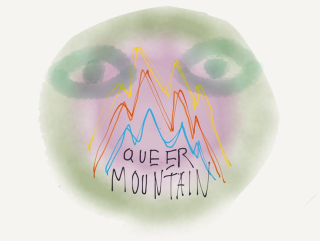 Greetings from Queer Mountain June 2013 logo