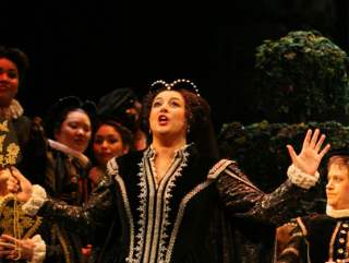 opera singer performing in Giuseppe Verdi's Don Carlo