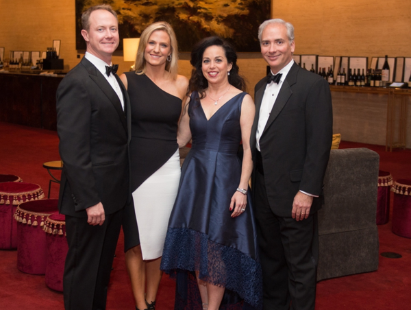 symphony Wine Dinner, April 2016, Billy McCartney, Christie McCartney, Viviana Denechaud, David Denechaud