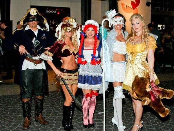Houston, La Griglia, October 2015, Halloween party and costumes