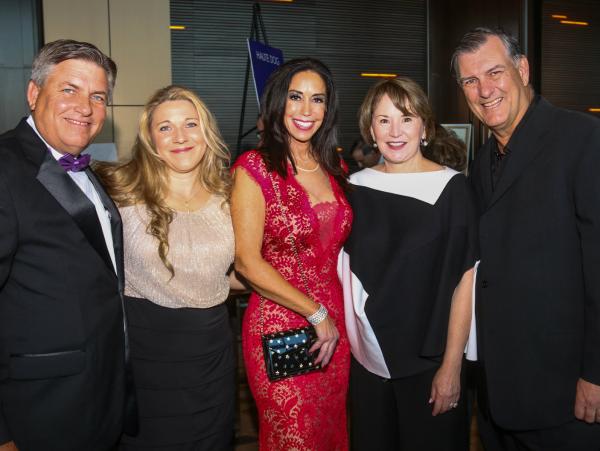 James Bias, Natalie Bias, Jocelyn White, Micki Rawlings, Mayor Mike Rawlings