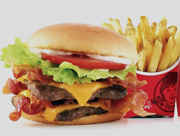 Houston, Hoffman drive thru gourmet, wendy's Junior Bacon Cheeseburger