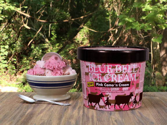 Blue Bell ice cream Camo 'n Cream, September 2017