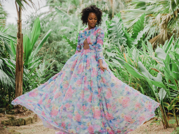 Chasity Sereal floral gown