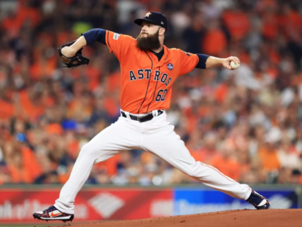 Dallas Keuchel  in Game one of American League Championship Series 2017