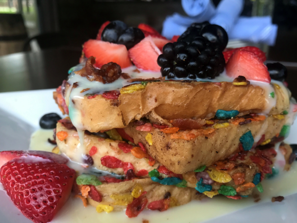 Houston, Bosscat Kitchen new brunch menu, April 2017, Fruity Pebbles French Toast