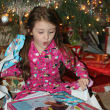 Little girl with presents