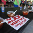 very hot sign at Austin Chronicle Hot Sauce Festival 2014
