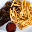 SaltAir Seafood lunch steak frites
