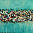 "Edgar Medina ""Kaleidoscope"" painting"