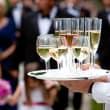 wedding server with drinks
