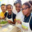Recipe for Success children cooking from MacGregor Elementary School