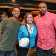Arian Foster charity dinner Morton's Kevin Johnson, Kerry McDonough, Duane Brown
