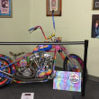 Janis Joplin motor bike at Texas Musicians Museum donated by Rick Fairless of Strokers Dallas