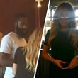 Houston, Khloe Kardashian and James Harden, August 2015, Chipotle