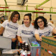 News, Shelby, Silver Eagle Distributors at Food Bank, July 2015 , Misty Buard, Ruth Contreras, Jamie Glavan