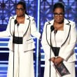 Oprah Winfrey at Emmys in Elizabeth Kennedy pantsuit