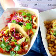Vegandale Festival vegan tacos and mac and cheese
