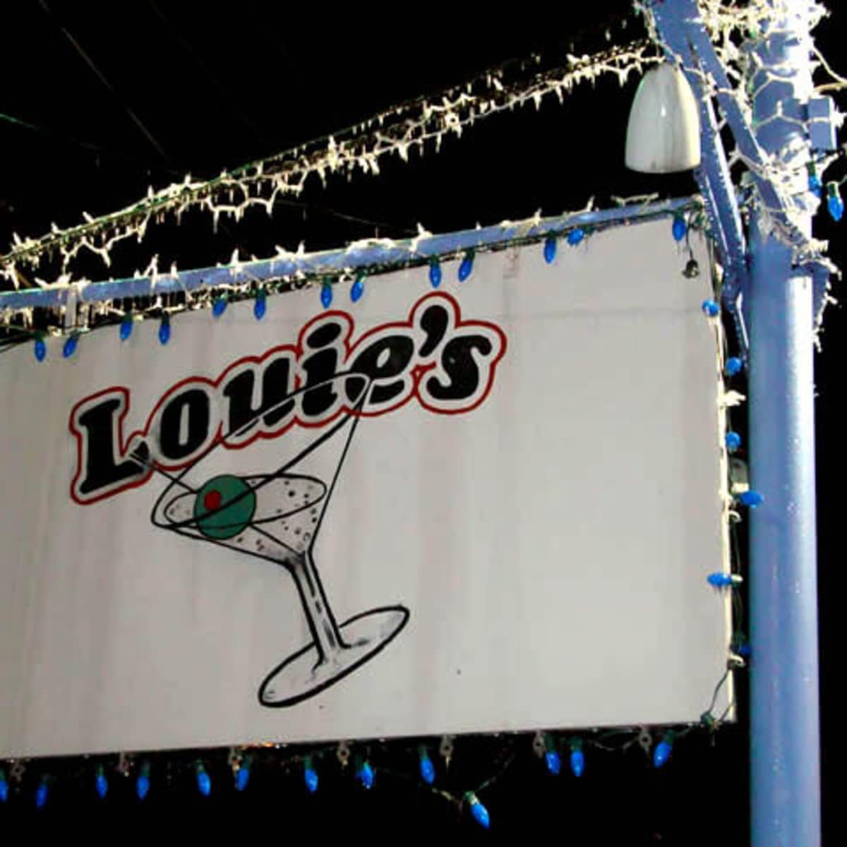 Sign of Louie's restaurant in Dallas