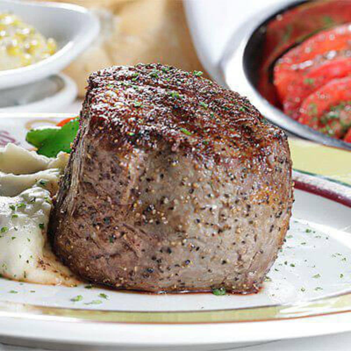 Steak at III Forks restaurant