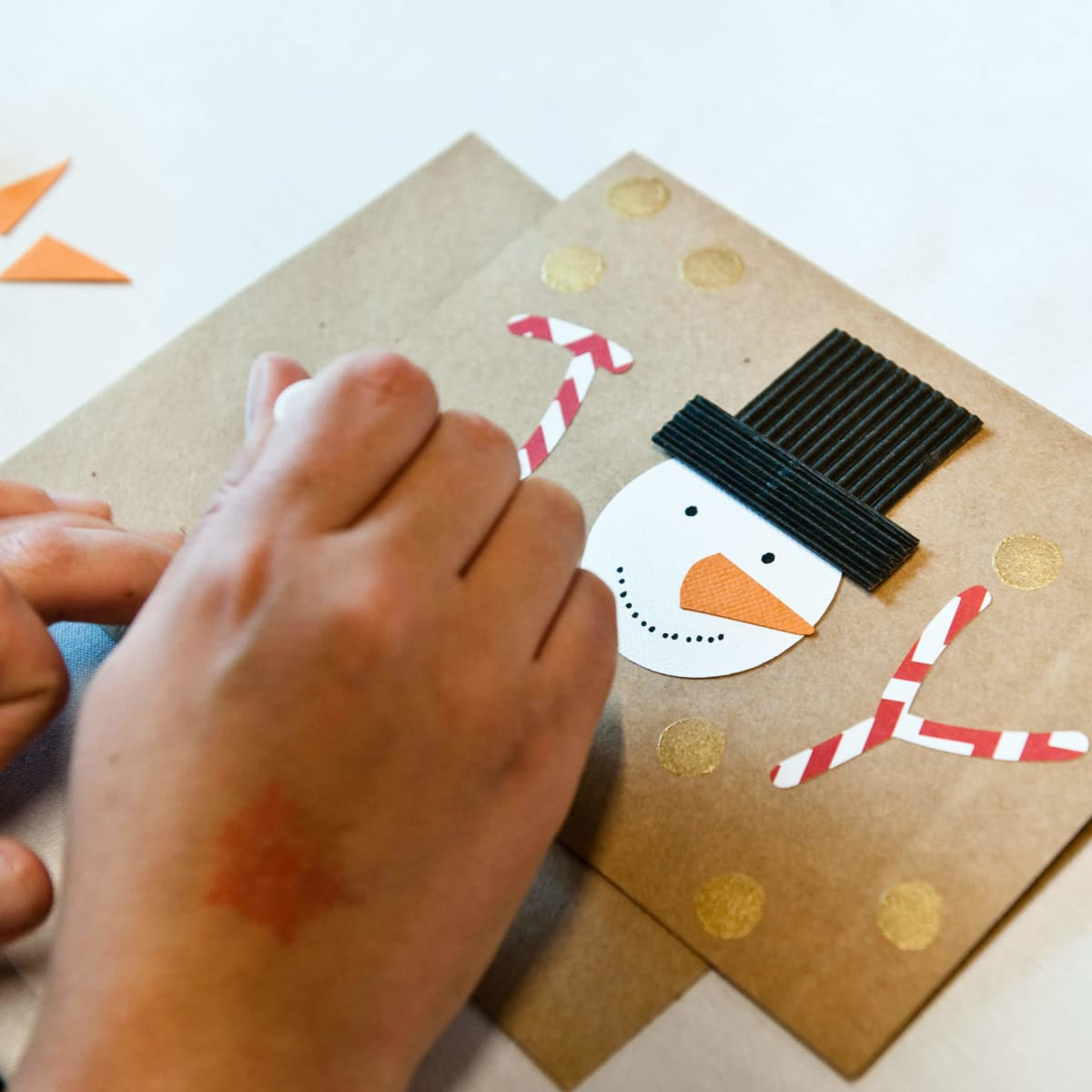 Craft station at CultureMap Holiday Pop-up Shop 2014