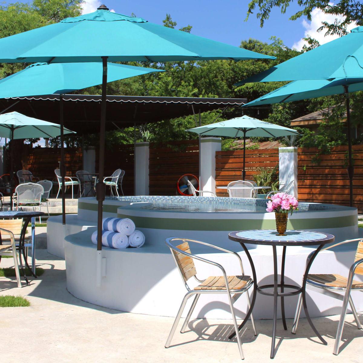 Kitty Cohen's Austin bar outdoor patio pool