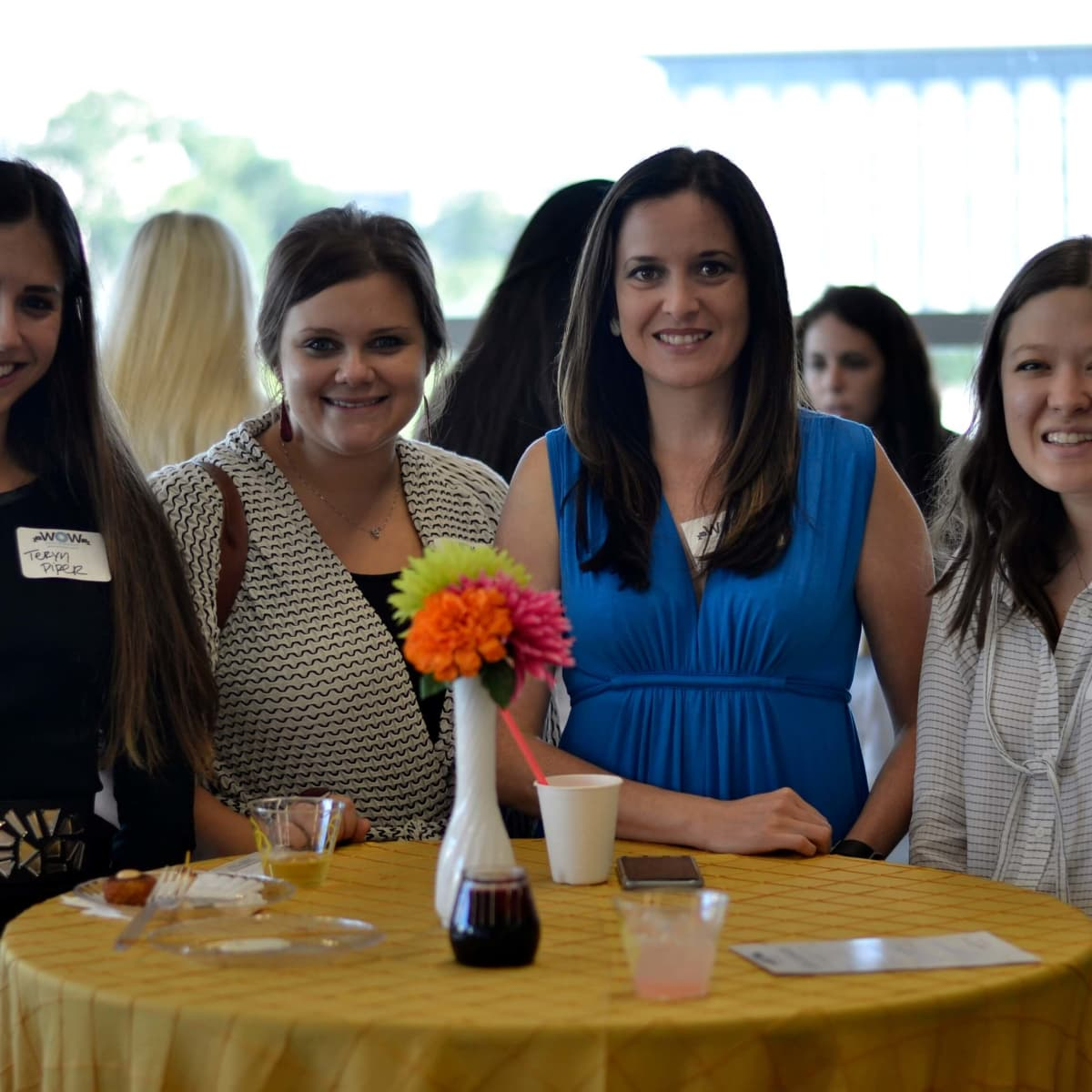 Dress for Success open house, 6/16 Teryn Piper, Kayla Nichols Danielle Rios, Kim Vincent