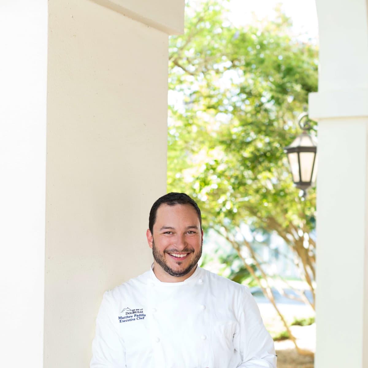 Inn at Dos Brisas chef Matthew Padilla