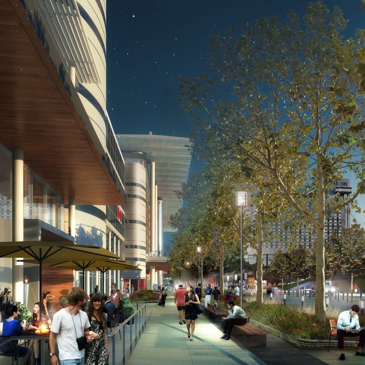 Avenida Houston sidewalk rendering
