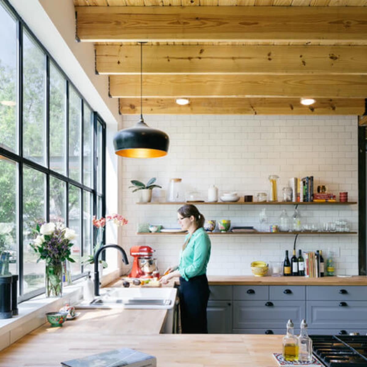 Austin home house Houzz DIY modern Texas farmhouse Garden St kitchen