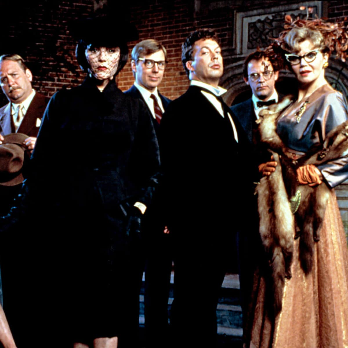 Cast from the film Clue