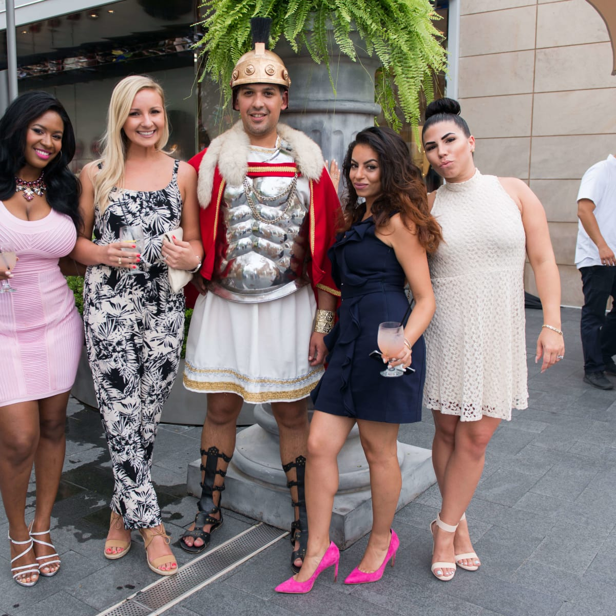 Ben-Hur premiere, Aug. 2016, Atia Willis, Kyle Hassenmiller, Christopher Marquez, Katie Naciri, Ashley Zeigler