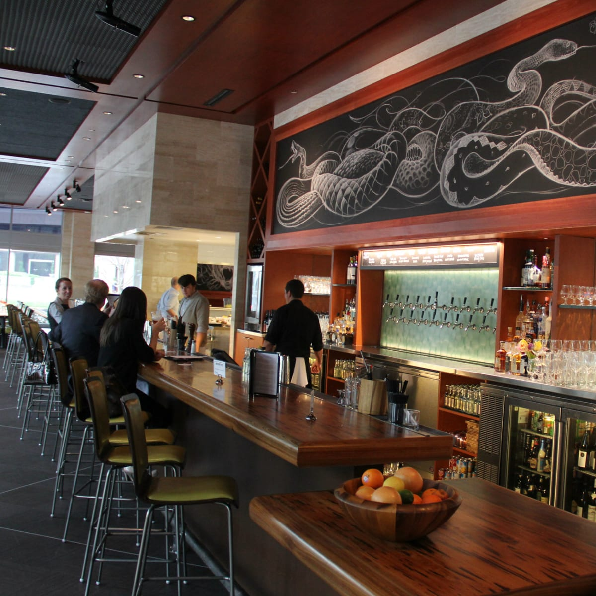 Bar at Lark on the Park restaurant in Dallas
